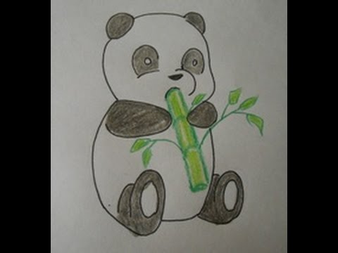 How To Draw A Cartoon Panda Baby Easy Drawing Step By Step For Kids