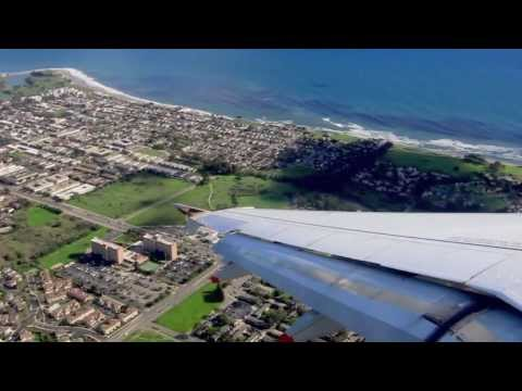 Frontier Airlines 242 Airbus A319 Santa Barbara to Denver Takeoff with LiveATC