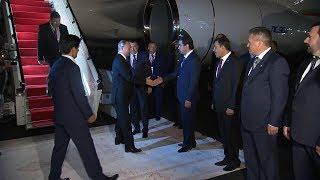 Как Владимира Путина встретили в Душанбе