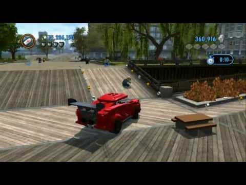 LEGO City Undercover (Wii U) - Unlocking All Performance Vehicles (All Vehicle Token Locations)