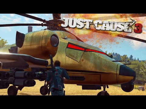 JUST CAUSE 3 FREE ROAM - SECRET GOLD HELICOPTER (Just Cause 3 Funny Moments)
