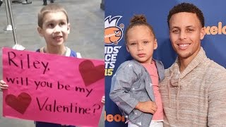 "Stephen Curry Meets Boy with ""Riley, Will You Be My Valentine?"" Sign"