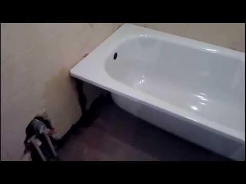 Установка ванны на метало каркас...