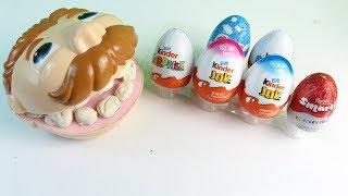 Play Doh Büyük Diş Amca Kinder Joy Yumurta Kinder Sürpriz Ozmo Yumurta Yiyor Play Doh Dişçi