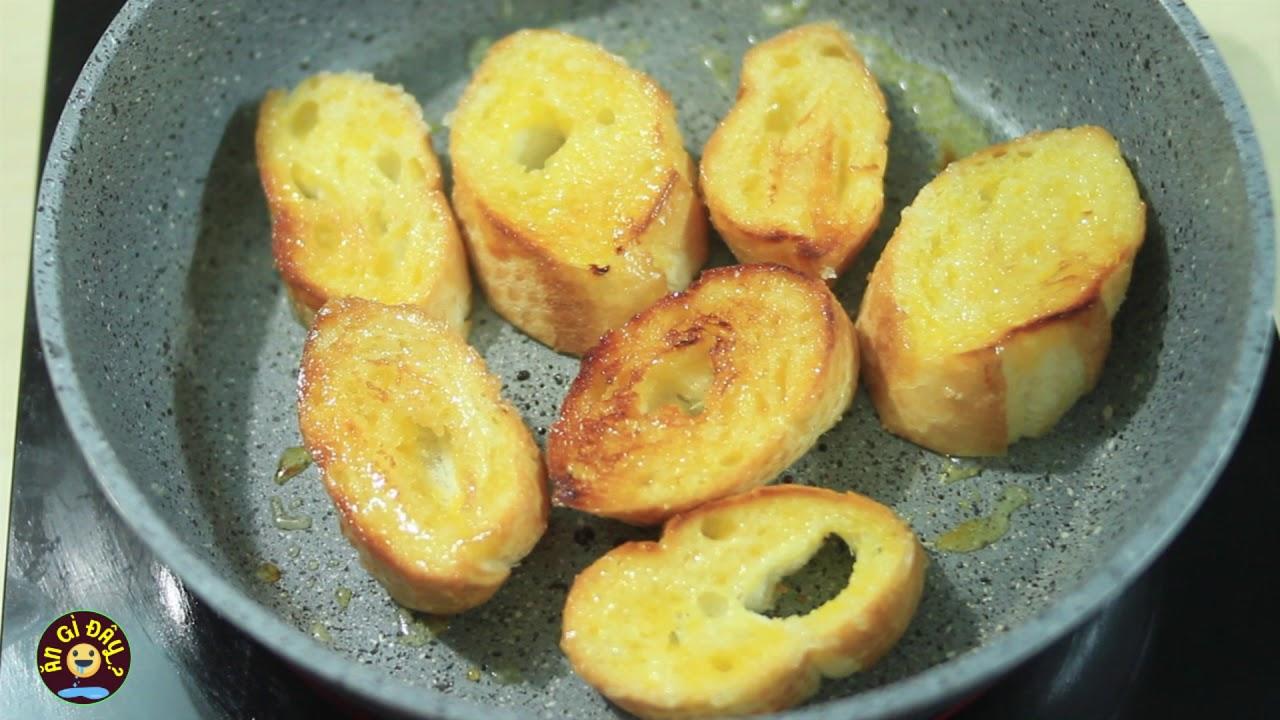 Cách làm bánh mì nướng bơ đường bằng chảo ngon tuyệt tại nhà