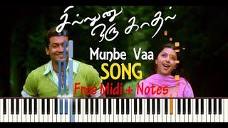 Munbe Vaa BGM Piano Notes  Sillunu oru Kadhal   Flp and MIDI File   Make music   Synthesia