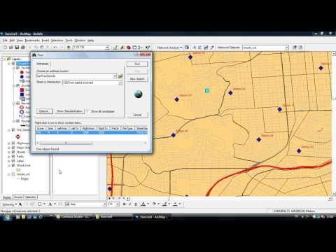 ArcGIS Network Analyst (Türkçe) New Closest Facility Analyst