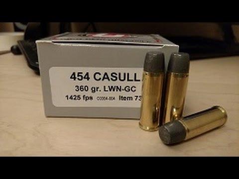 .454 Casull Ammo: 260 Grains vs. 360 Grains