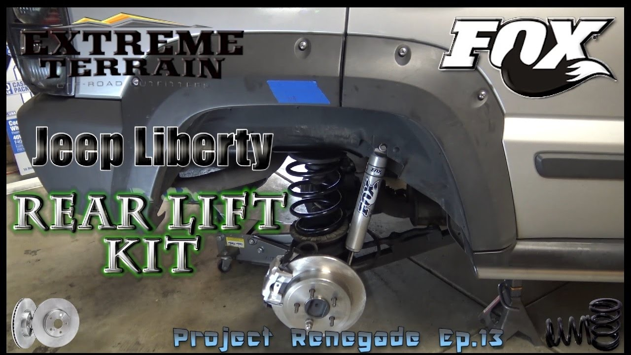Jeep Liberty Rear Lift Kit with New Brakes & Suspension, Project Renegade  Ep 13
