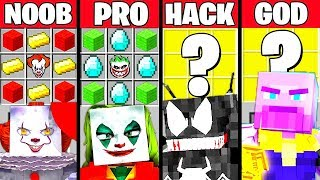 Minecraft Battle: VILLAINS MOVIE CRAFTING CHALLENGE - NOOB vs PRO vs HACKER vs GOD ~ Funny Animation