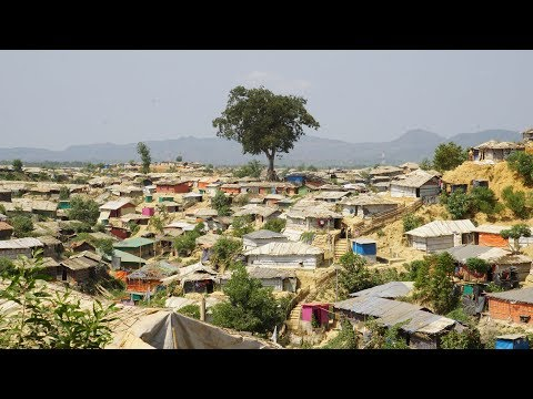 Rohingya Kutupalong-Balukhali Refugee Camps View
