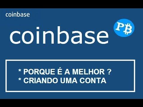 Coinbase - Armazenamento de Bitcoins - Criar Conta