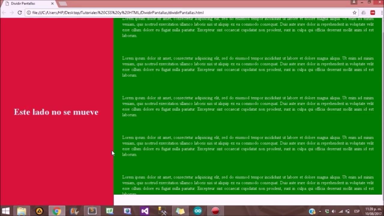 Página (Plantilla) Responsiva #1 HTML y CSS - Visualizandolanet ...
