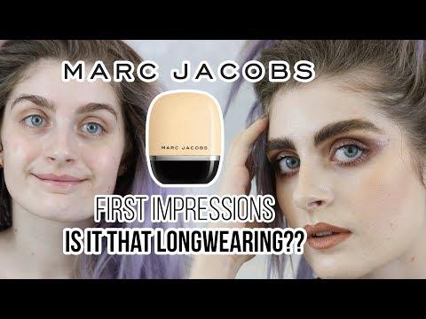 MARC JACOBS Shameless Foundation Fair  Y110 - First Impressions & Wear Test | Raquel Mendes