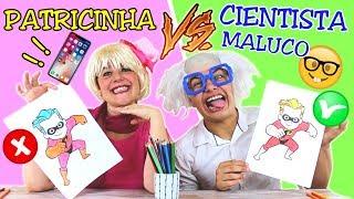 DESAFIO COLORINDO COM 3 CORES na ESCOLA (3 MARKER CHALLENGE) PATRICINHA VS CIENTISTA MALUCO