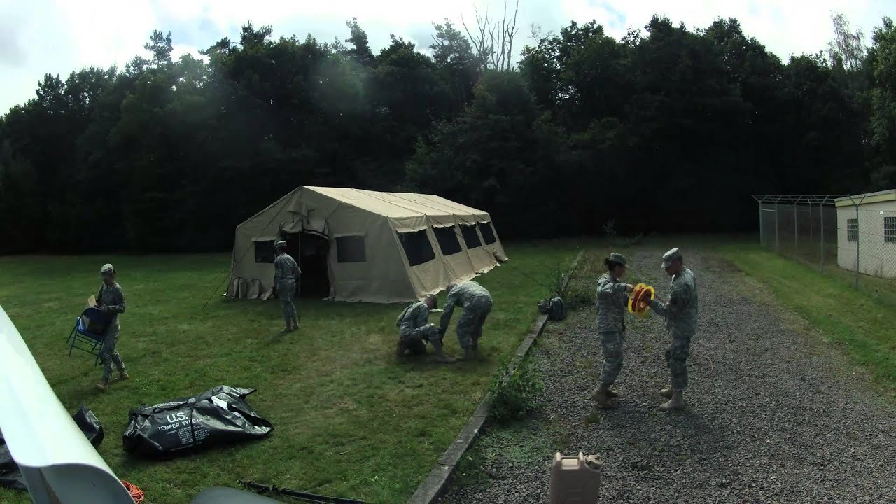& Army Tent Build - YouTube