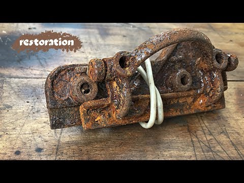 Old Planer Restoration. USSR ancient tool - shpoontubel. ASMR video.