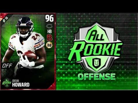 All-Rookie Jordan Howard | Player Review | Madden 17 Ultimate Team Gameplay