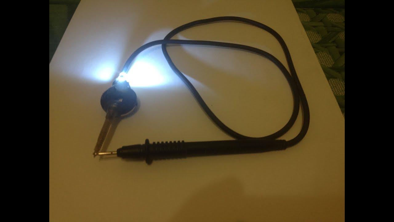 Прозвонка кабеля лампочкой и батарейкой. Как сделать