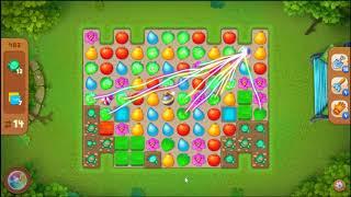 Gardenscapes Level 483 No Booster 🌲  l MiniGames