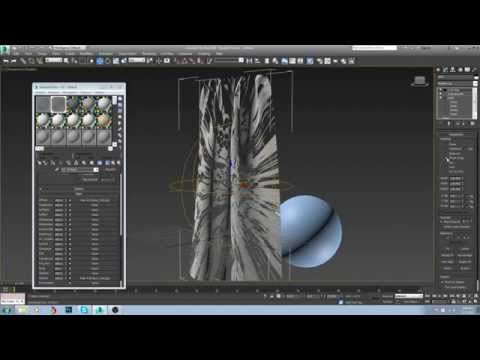 How to Model and texture curtains in 3ds max vray