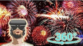 Панорамное Видео 360 VR 4K для очков виртуальной реальности. Запускаем фейерверк!