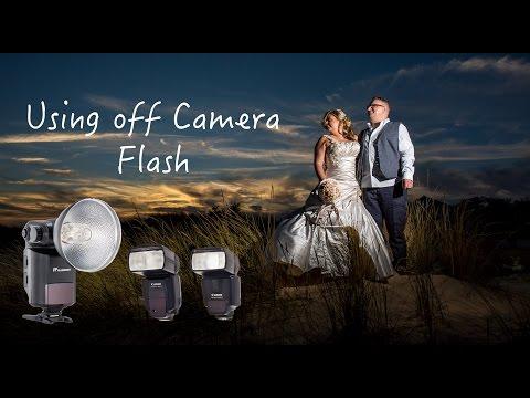 Using off camera flash at weddings, streak light