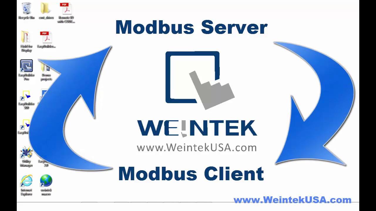 Modbus Server & Client Set Up with EBPro EasyBuilder Pro