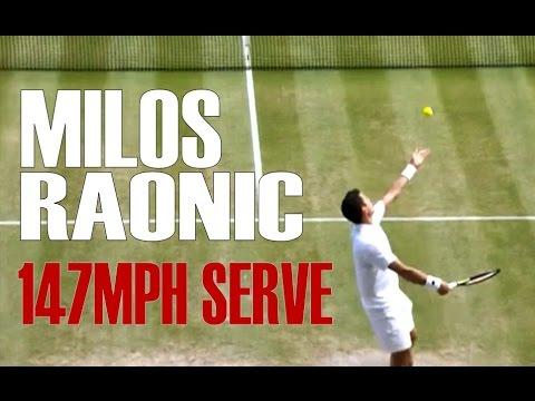 Milos Raonic Serve