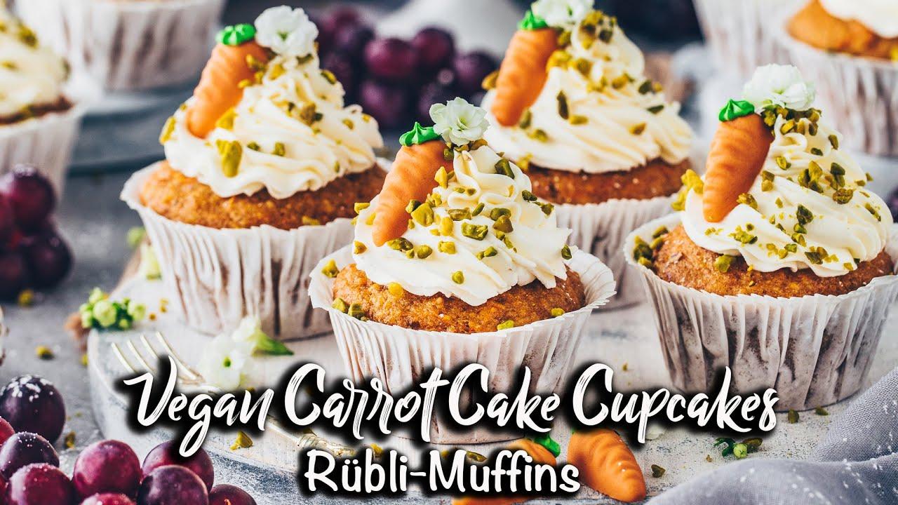 Vegane Karotten Muffins | Die Besten Rübli Cupcakes *Einfaches Rezept*