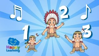 Ten Little Indians. Number Song for Children (Nursery Rhymes)