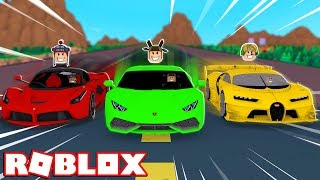 YOUTUBER SUPERCAR RACE! (Roblox Vehicle Simulator)