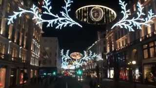 Christmas Lights Regent Street & Oxford Street London 2014