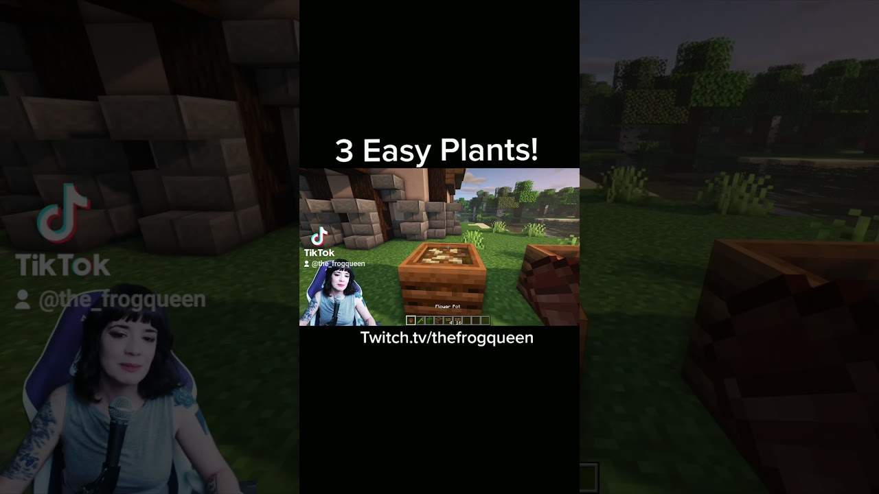 Minecraft : 3 Easy Plant Designs #shorts