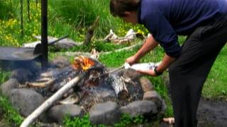 Benny's Backcountry Trout Recipes - Cobungra River Campfire Trout With Thyme