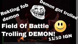 Roblox Field of battle, Demon event