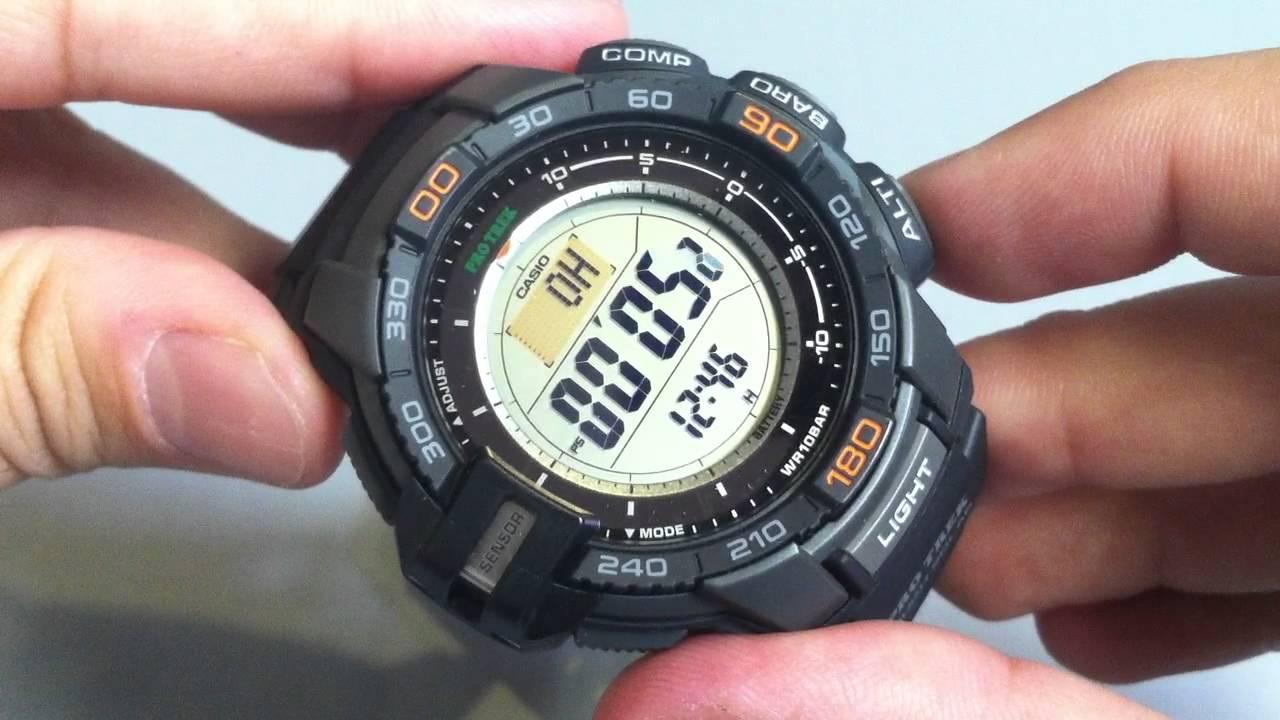 ab8135720f0 Casio Pro Trek PRG270-1 Solar Compass Watch PRG-270-1CR - YouTube