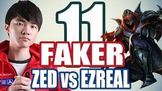 SKT T1 Faker Zed vs Ezreal - Midlane - Replay