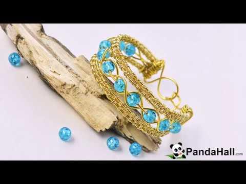 vid o 55 p comment faire un bracelet d 39 or avec perles en. Black Bedroom Furniture Sets. Home Design Ideas