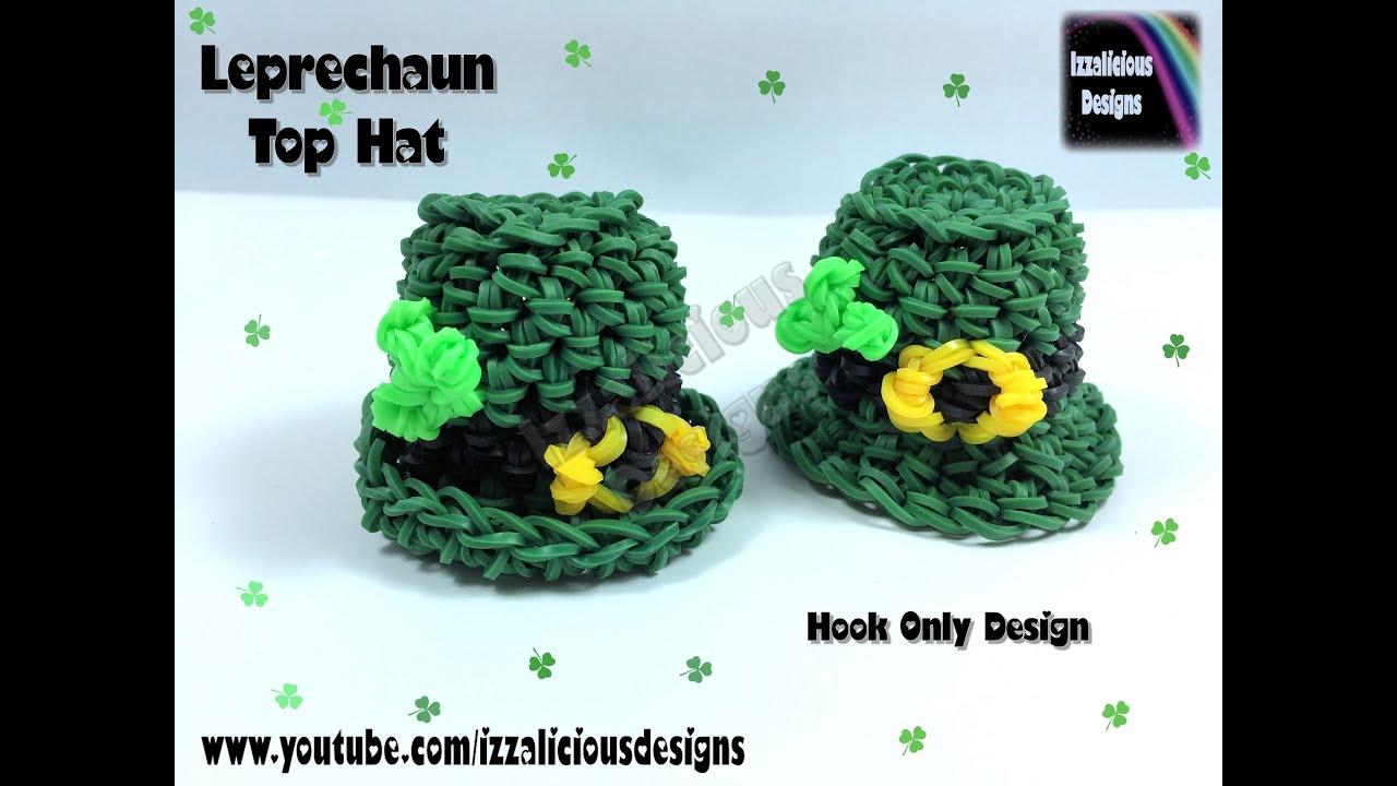 Rainbow Loom 3d Leprechaun Top Hat Charm Hook Only Loomless Loom