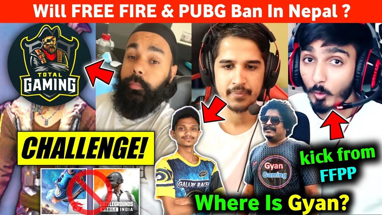 Free Fire & PUBG Ban in Nepal?😱 Desi Gamers on Vasiyo?😠 Chapati Gamer challenge Total Gaming in FF!😃