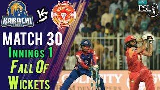 Islamabad United Fall Of Wickets |Karachi Kings Vs Islamabad United| Match 30 | 16 Mar| HBL PSL 2018