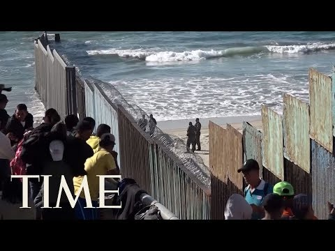Migrants In Caravans Are Arriving In Their Hundreds At The Mexico-U.S. Border | TIME