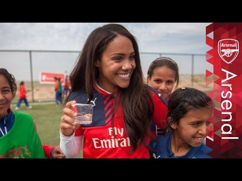 Alex Scott visits football project in Iraq