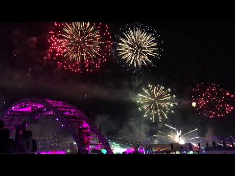 EDC Las Vegas 2016 Electric Sky FIREWORKS Show Over LVMS Sunday Day 3