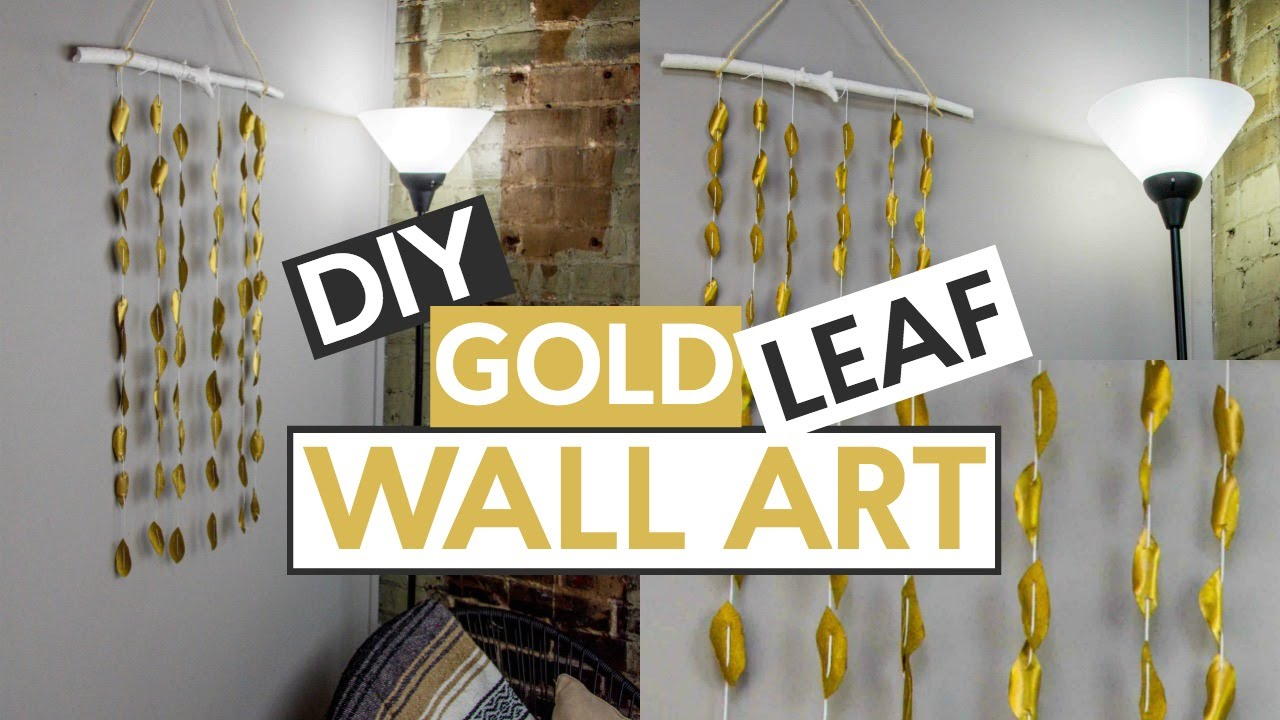 DIY Gold Leaf Wall Art - YouTube