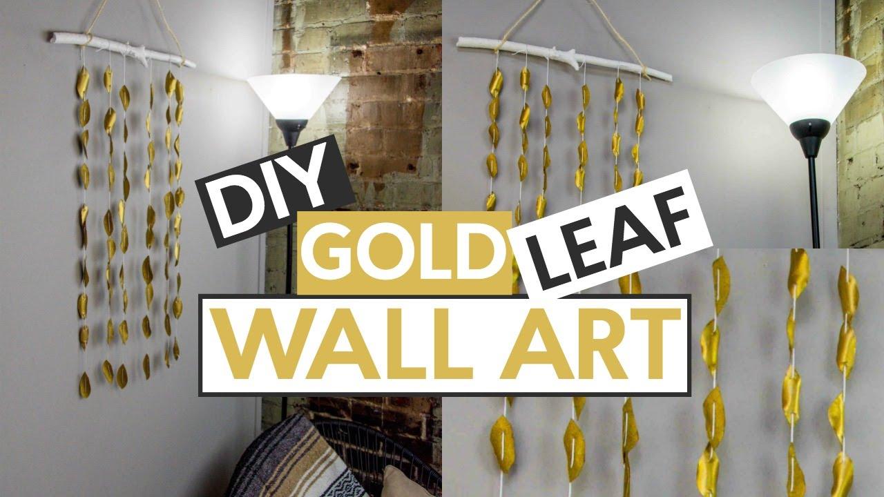 DIY Gold Leaf Wall Art - YouTube