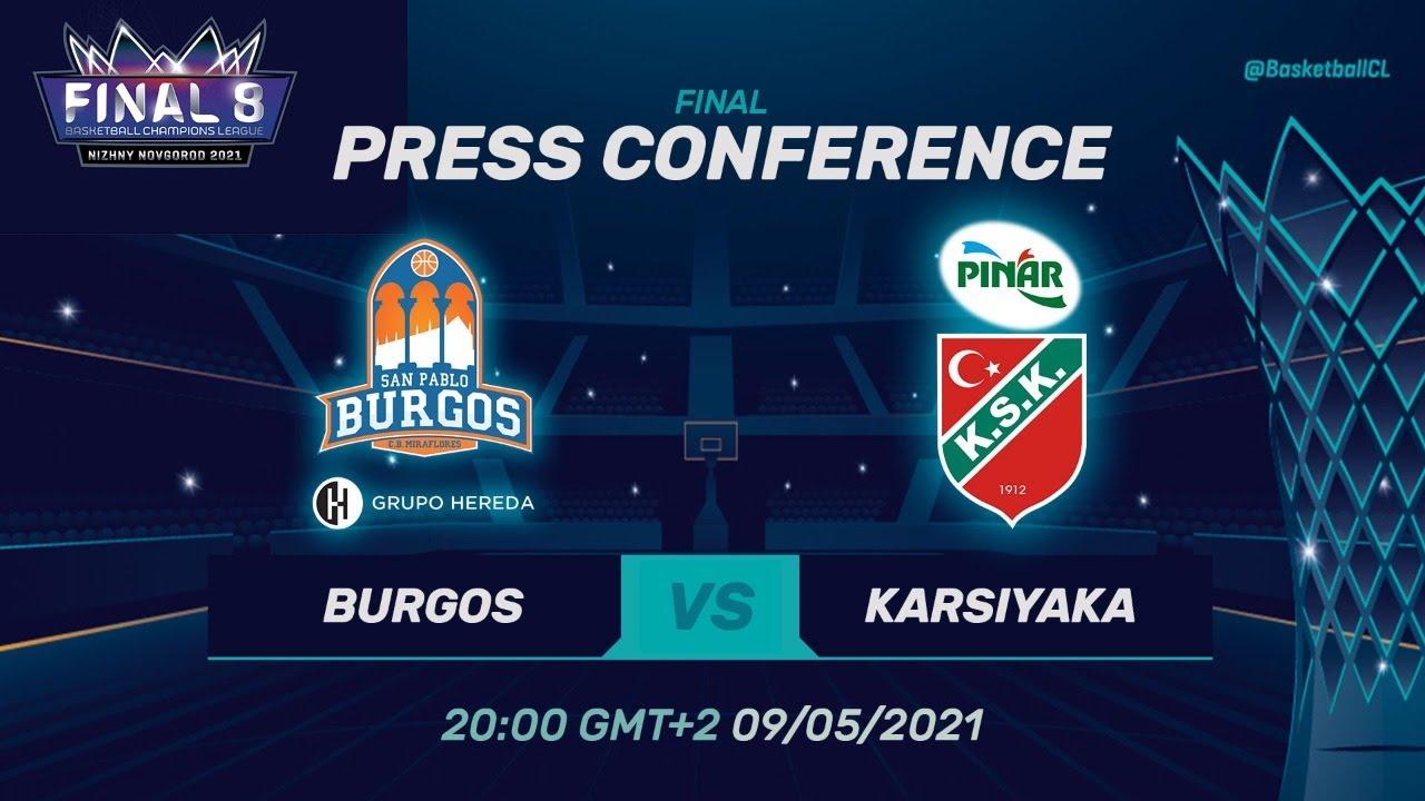 Hereda San Pablo Burgos v Pinar Karsiyaka - Press Conf. | Basketball Champions League 20/21