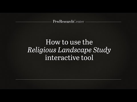 How to Use Pew Research Center's Religious Landscape Study