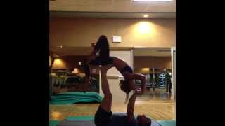 Acro yoga: some flips and shit